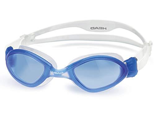 HEAD Tiger LSR+ Adult Standard Swim Goggles - Blue Frame/Blue Lens