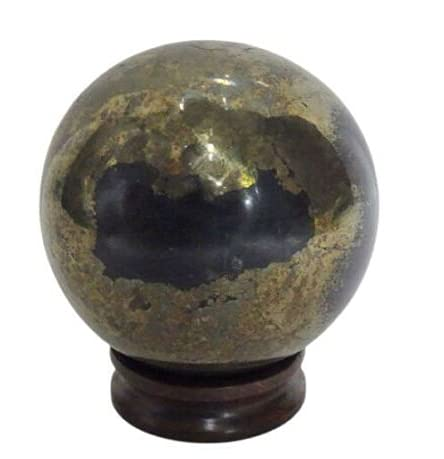 gemsindia 2355 Carat Natural Untreated Apache Gold Pyrite Sphere Crystal Healing Mineral Size: 62mm in Diameter