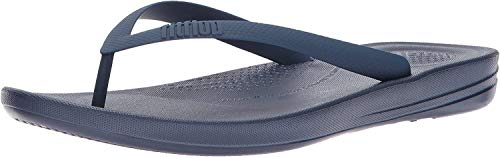 FitFlop Men's IQUSHION Ergonomic FLIP-Flops, Midnight Navy, 8 M US
