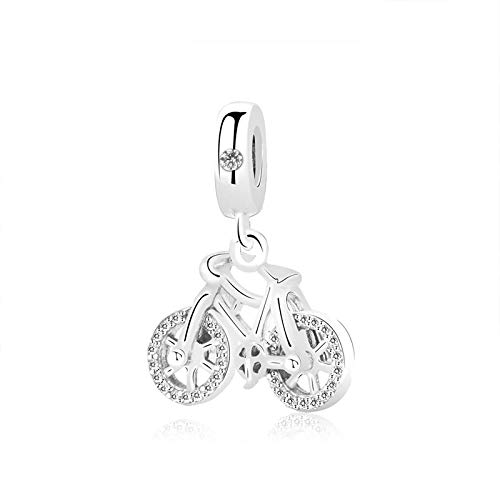 Charm Anhänger,Original Charms 925 Sterling Silber Perlen Fit Armband Brilliant Fahrrad Anhänger Charm Perle Frauen Diy Schmuck Geschenk