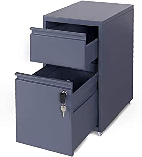 Classeurs XMJ Fichier Cabinet Accueil Etude Mobile Made in Fire Band Verrouillage Bureau Armoire de Rangement avec 2 tiroi...