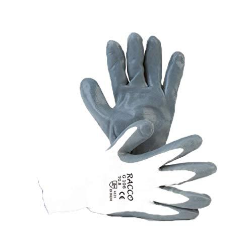 REPOSA Guanti da lavoro sanificabili, 30 paia guanti lavabili lavatrice, guanti spalmati nitrile, guanti nitrile spessorati, guanti riutilizzabili, guanti da lavoro in nitrile (TAGLIA XL)