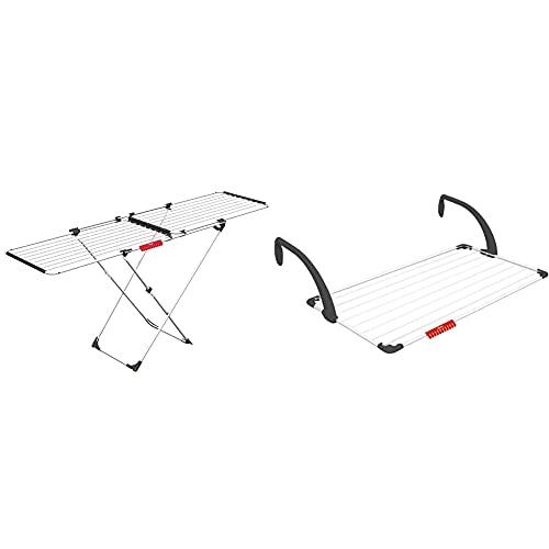 Vileda Doble Tendedero Extensible De Acero Y Aluminio, Blanco, 13X0.8X6 Cm +...