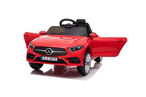 Babycar Mercedes CLS 350 AMG ( Rossa ) Nuova con Sedile in Pelle Macchina Elettrica per Bambini Ufficiale con Licenza 12 Volt Batteria con Telecomando 2.4 GHz Porte Apribili con MP3