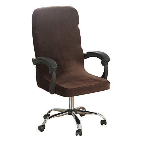 M / L Elastic Silver Velvet Elastic Stretch Home Office Stuhlbezug Computer Waschbarer Sesselschutz Lift Chair Schonbezug