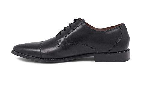 Florsheim Men's Montinaro Cap Toe Dress Shoe Lace Up Oxford, Black, 7 D US