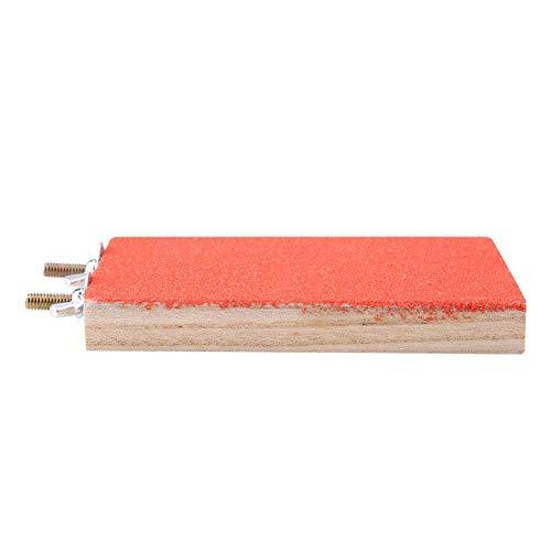 Paw Rettifica Piattaforma per Posatoio per Uccelli Bird Posatoio Stand Platform Gabbie Toy Hammock Altalena Giocattolo Appeso Giocattolo per Animale Domestico Pappagallo Criceto Scoiattolo (Red)