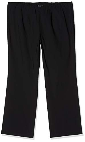Ulla Popken Große Größen Damen Straight Leg Hose Klassische Bengalin K 64091510, Gr. 48 (Herstellergröße: 24), Schwarz (schwarz 10)