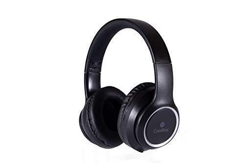 CoolBox CoolSand AIR20 – Auriculares Cerrados inalámbricos Over-Ear, estéreo, Plegables, con micrófono...