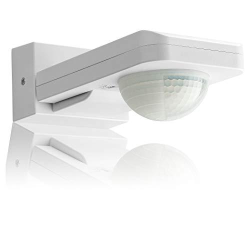 SEBSON® Bewegungsmelder Aussen IP65, Aufputz Wand Decken Montage, programmierbar, 20m / 360°, LED geeignet, Infrarot Sensor mit 3 Sensoren, 3-Draht