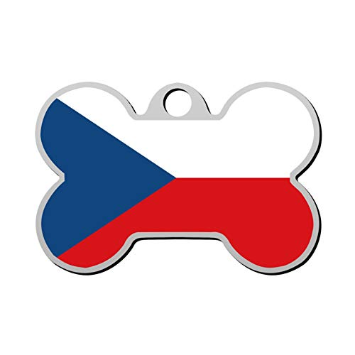 Lisa Cave Flag The Czech Republic Dog and Cat Tag Pet ID Personalized Custom Name Zinc Alloy