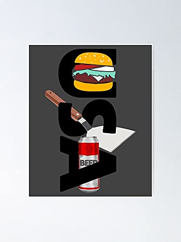 AZSTEEL Usa - Hamburger Spatula Beer Poster | Best Gift for Family and Your Friends 12x17 Inch