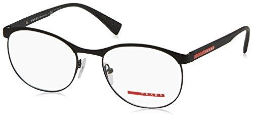 Prada Herren 0PS 50IV Brillengestell, schwarz (Black Rubber), 53 EU