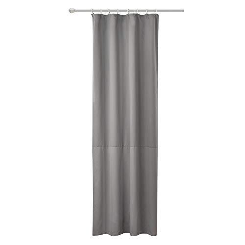 WOLTU #489, Vorhang Gardinen Blickdicht mit kräuselband für schiene, Leichter & weicher Verdunklungsvorhang für Wohnzimmer Schlafzimmer Tür, 135x225 cm, Dunkelgrau, (1 Stück)