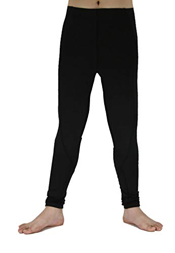 Boy's Sports Running Stretch Pants Compression Football Leggings Basketball Tights Baselayer for Kids