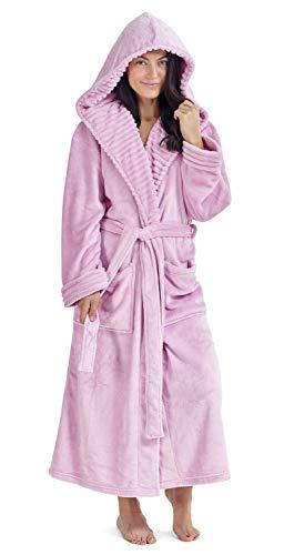 CityComfort Damen Morgenmantel Pinguin Eule Luxus Damen Kleider Plüsch Robe Neuheit Tier Kapuze Super Soft Touch Fleece Mit Kapuze Bademäntel für Sie! (M, Baby Rosa)