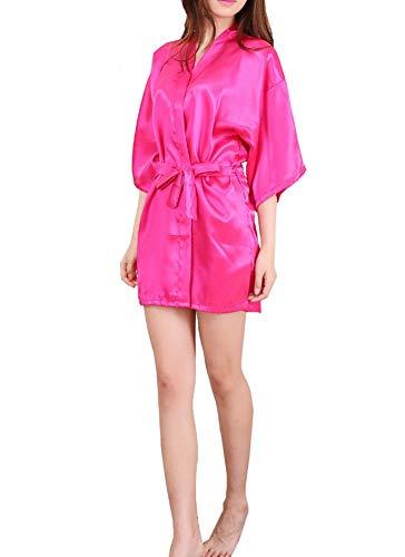 ADELINA Dames Kimono Satijn Baden Ochtend Kleur mannen Pure Heren Nacht Modieuze Completi Warm Sjaal Korte Jurk Chemise Nacht Jurk