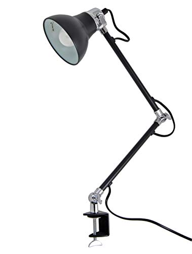 LED Schreibtischlampe Tischlampe Schwenkbar Tischleuchte Schreibtisch (Klemmleuchte Schwarz)