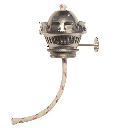 Sampanino Brenner mit 5 mm Docht, vernickelt, für Öllampen, LOGGI und andere Petroleumlampen