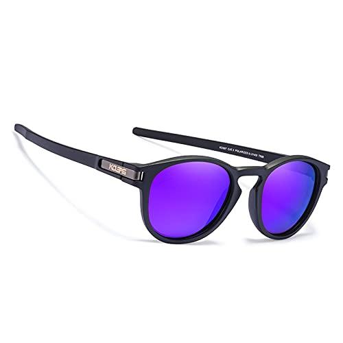 NBJSL Gafas de sol polarizadas redondas clásicas Gafas de sol ultraligeras Tr al aire libre Embalaje de regalo exquisito