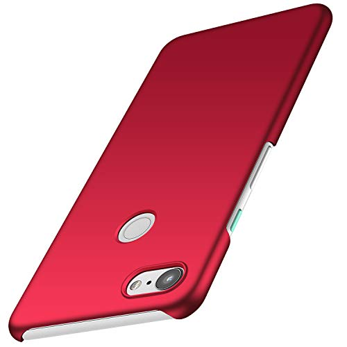 anccer Kompatibel mit Google Pixel 3A XL Hülle, [Serie Matte] Elastische Schockabsorption & Ultra Thin Design (Glattes Rot)