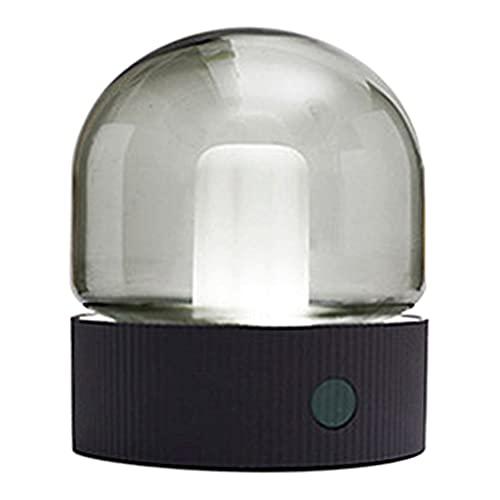 MERIGLARE Retro USB Cobrando Candeeiro de Arte Lâmpada de Luz de Leitura Portátil Noite Barra de Luz Stepless Escurecimento para o Quarto Escritório - Cinza B