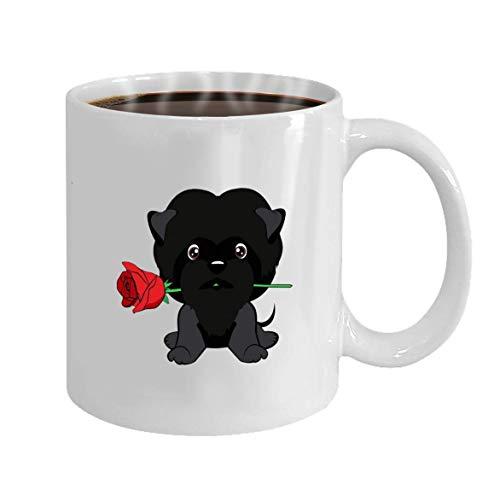 Patroon 100% 11 ounces koffiemok op verjaardag kan het getekende puppy karikatuur van de kerstthee schaal mooi hand worden gebruikt