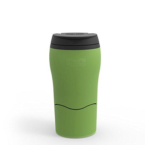 Mighty Mug Double Wall Plastic Travel Mug featuring No Spill Smartgrip Technology (Green, 12oz)