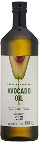Wickedly Prime 100% Pure Avocado Oil, Expeller Pressed, Non-GMO, Gluten Free, 1 L
