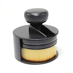in budget affordable Farini Foundation Brush, Kabuki Flat Liquid Foundation Brush, for face and body – big, full…
