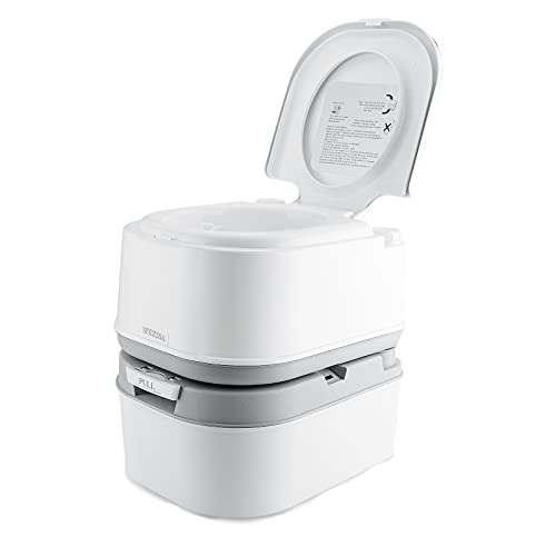 SEEZSSA 24 L Portable Camping Toilets Emergency Commode Porta Potty with Waste Level Indicator &...
