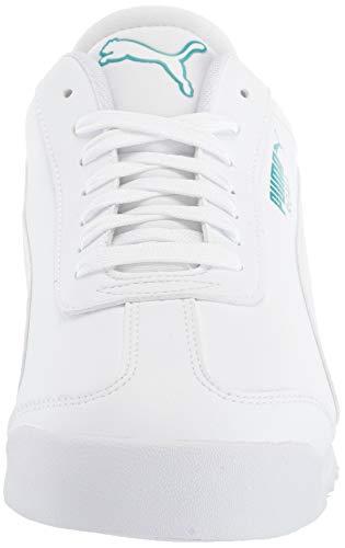 PUMA Women's Mercedes Roma Sneaker, White White, 11