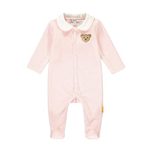 Steiff Baby-Mädchen mit süßer Teddybärapplikation Pyjamaset, Rosa (Barely Pink 2560), 050