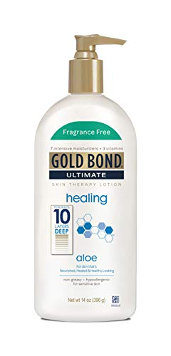 Gold Bond Ultimate Healing Skin Therapy Lotion with Aloe, Fragrance Free, 14 Ounces (397 Grams)
