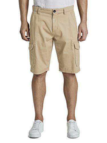 TOM TAILOR Morris Pantaloncini Bermuda, 11018-Chinchilla, 30W Uomo