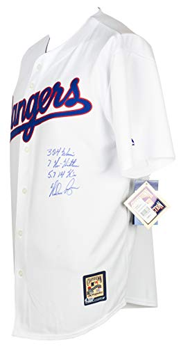 Nolan Ryan Autographed Signed Majestic Cooperstown Jersey Inscribed 3x 324 Wins BAS