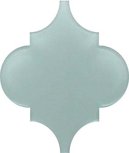Small Sample - Pacifica Arabesque Glass Mosaic Tiles