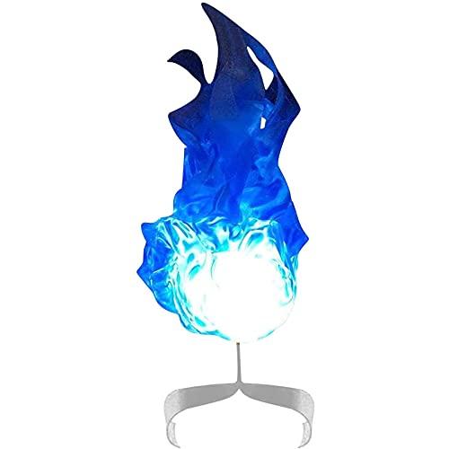 RJFYPX Los Accesorios flotantes de la Bola de Fuego, Que brillaron los Accesorios flotantes de la Bola de Fuego en la Mano, la decoración del Partido de Halloween,Azul