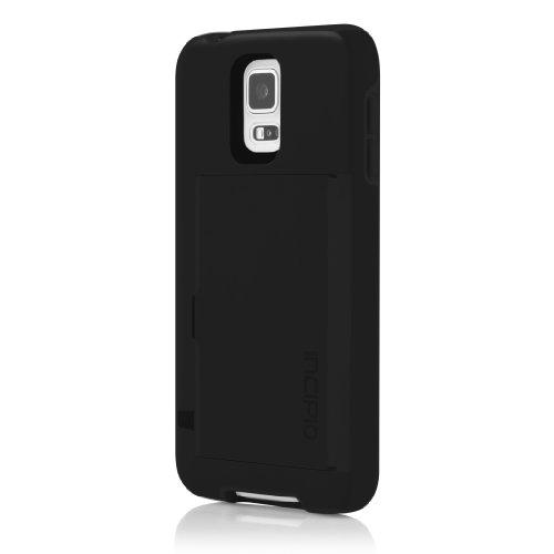 cases for samsung galaxy s5s Incipio Stowaway Credit Card Case for Samsung Galaxy S5 - Retail Packaging - Black/Black
