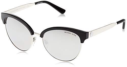 Michael Kors Amalfi 3338Z3 56 Gafas de sol, Negro (Black/Silver/Silvermirrorpolarized), Mujer