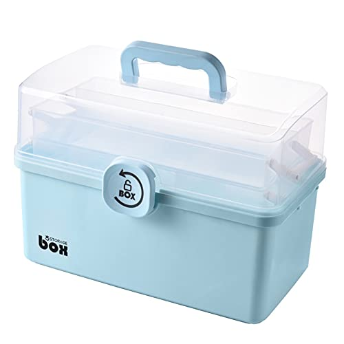Ming Ming Contenitore da Pronto Soccorso Portatile Clear 3 Tiers Plastic Medicine Medicine Box Grande capacità Family Kit di Emergenza Kit di stoccaggio Organizer