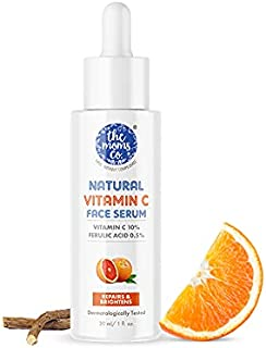 The Moms Co. Natural Vitamin C Face Serum with Vitamin C for a Naturally Brighter and Even Toned Skin l 10 percent Vitamin...