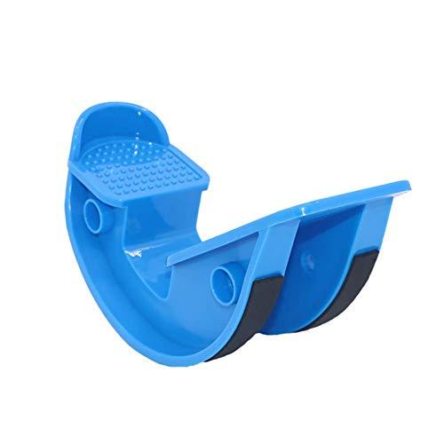 XIAOFEI Piede Barella Rocker Polpaccio Caviglia Stretch Board per Achille Tendinite Muscolo Massaggio Fitness Pedale Barella Pianta Yoga,Blu