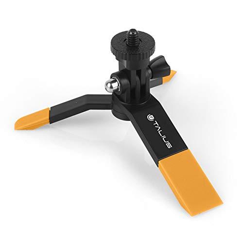 ∙us tal-tri01-yel – kit mini statief – knop selfie statief adapter – smartphone – geel