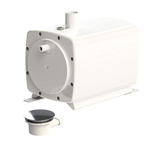 SFA 0051P Hebeanlage SANIFLOOR+ 3 (Saugpumpe + Siphon) - Leistung 30l/min, Förderhöhe 1m, für extraflache Duschen, 220 V, Weiß