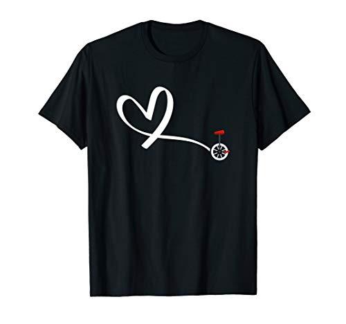 Einrad Herz Sport ein Rad ist genug Radsport Geschenk T-Shirt