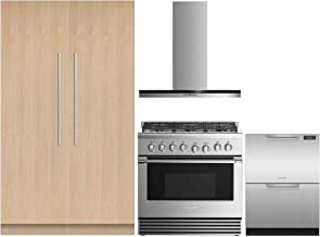 Fisher Paykel 5 Piece Kitchen Appliances Package with 36