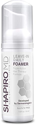 Hair Loss Leave-In Daily Foam   DHT Fighting Vegan Formula for Thinning Hair Developed by Dermatologists   Experience Healthier, Fuller & Thicker Looking Hair – Shapiro MD   1-Month Supply