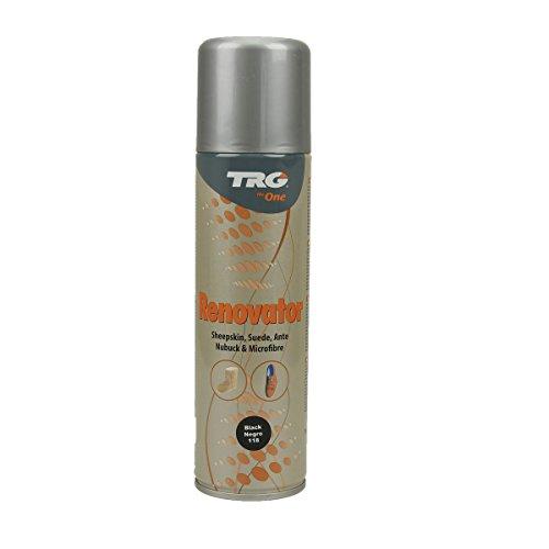 Langlauf Schuhbedarf TRG Renovator Wildleder Nubuk Microfaser Pflegespray Imprägnierspray (schwarz)