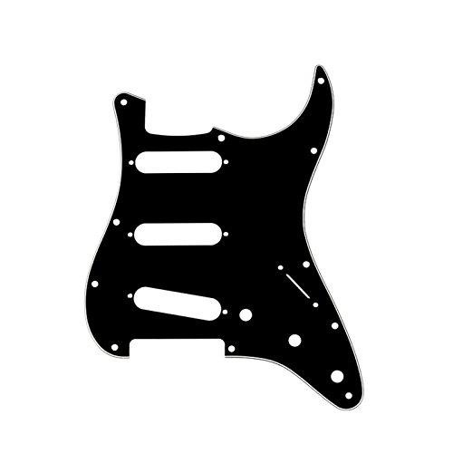 Musiclily 11 Agujeros SSS Strat Pickguard Golpeador para Fender American/México Standard Stratocaster...